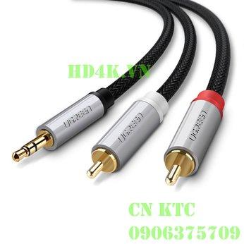 Cáp âm thanh 1 ra 2 RCA 1M Ugreen 40841