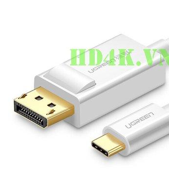 Cáp chuyển USB Type-C to Displayport dài 1,5m Ugreen 40420
