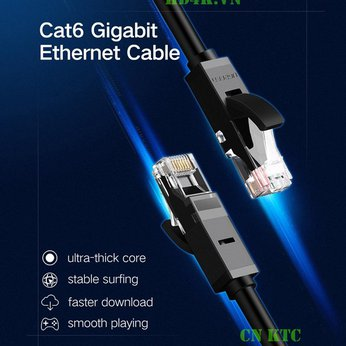 Cáp mạng CAT6 2m (màu đen) cao cấp Ugreen 20160