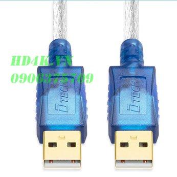 Cáp USB to USB 2.0 dài 10m 2 dầu dương DTECH DT-5026C