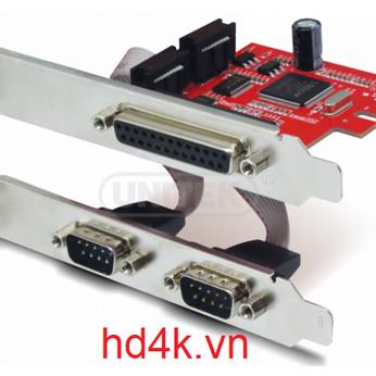 Card chuyển PCI-E to RS232 / Parallel Unitek Y-7508