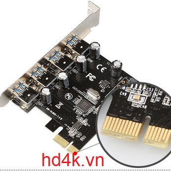 Card chuyển PCI-E to USB 3.0 4 Port DIEWU
