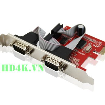 Card PCI-E to 2 Com (RS232) Unitek Y-7504