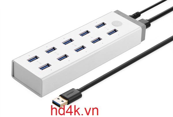 Bộ chia USB 3.0 10 cổng ugreen 20297