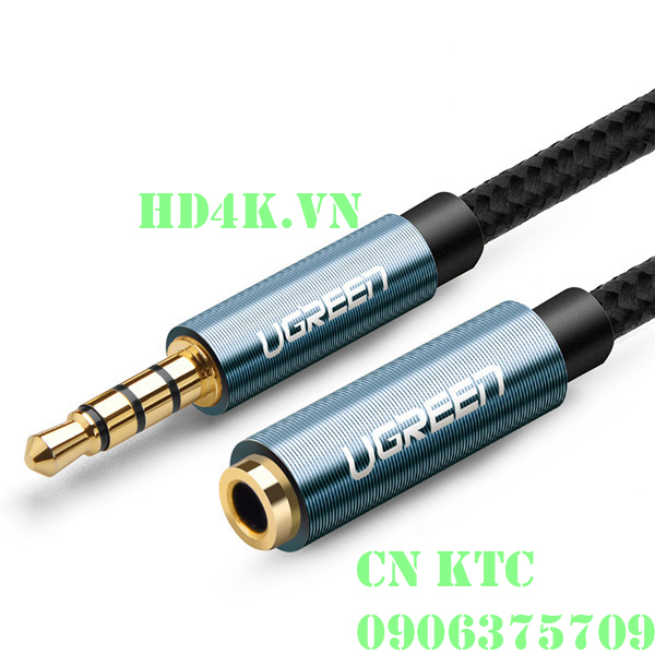 Cáp âm thanh nối dài 3.5mm 3 khấc dài 2M Ugreen 40675