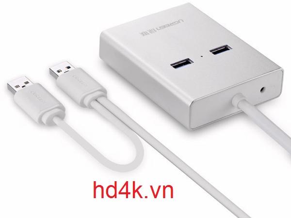 Cáp chuyển USB to VGA, USB 3.0, Lan Ugreen 40242