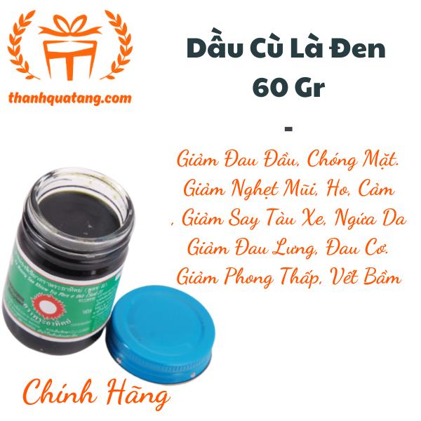⭐6 Chai Dầu Cù Là Đen Thái Lan 60Gr. Hàng Thái Chính Hãng. 240K/6 Chai