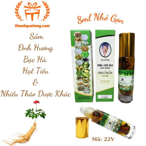 ⭐Dầu Lăn Herbal Liqid Balm Yatim Brand 22 Vị Thảo Dược Chính Hãng. 45k