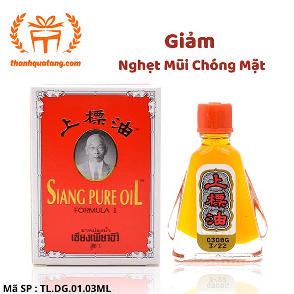 ⭐[Hàng Chính Hãng] ⭐ Dầu Gió Siang Pure Thái Lan 3ML. Giá Lẽ 36k/Chai