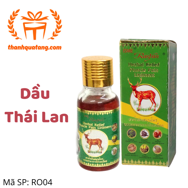 Dầu Nóng Thái Lan Xoa Bóp Trị Nhức Mỏi. Hàng Thái Giá Lẽ 70k/Chai.