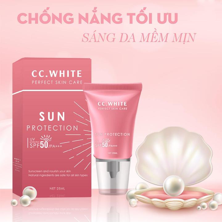 Kem chống nắng Sun Protection CC White