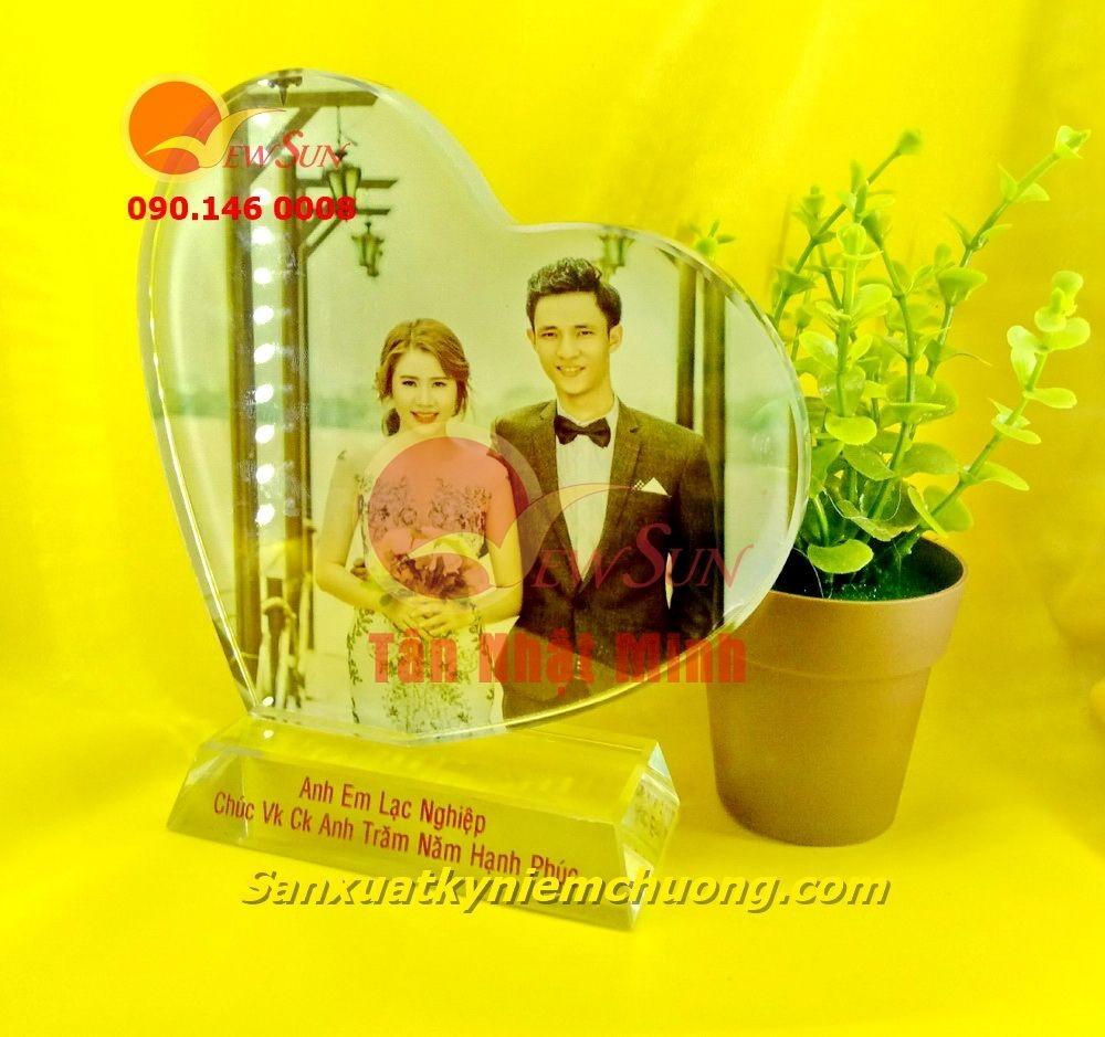 ** Pha lê in hình trái tim nghiêng - Vua Quà Việt - 0901460008
