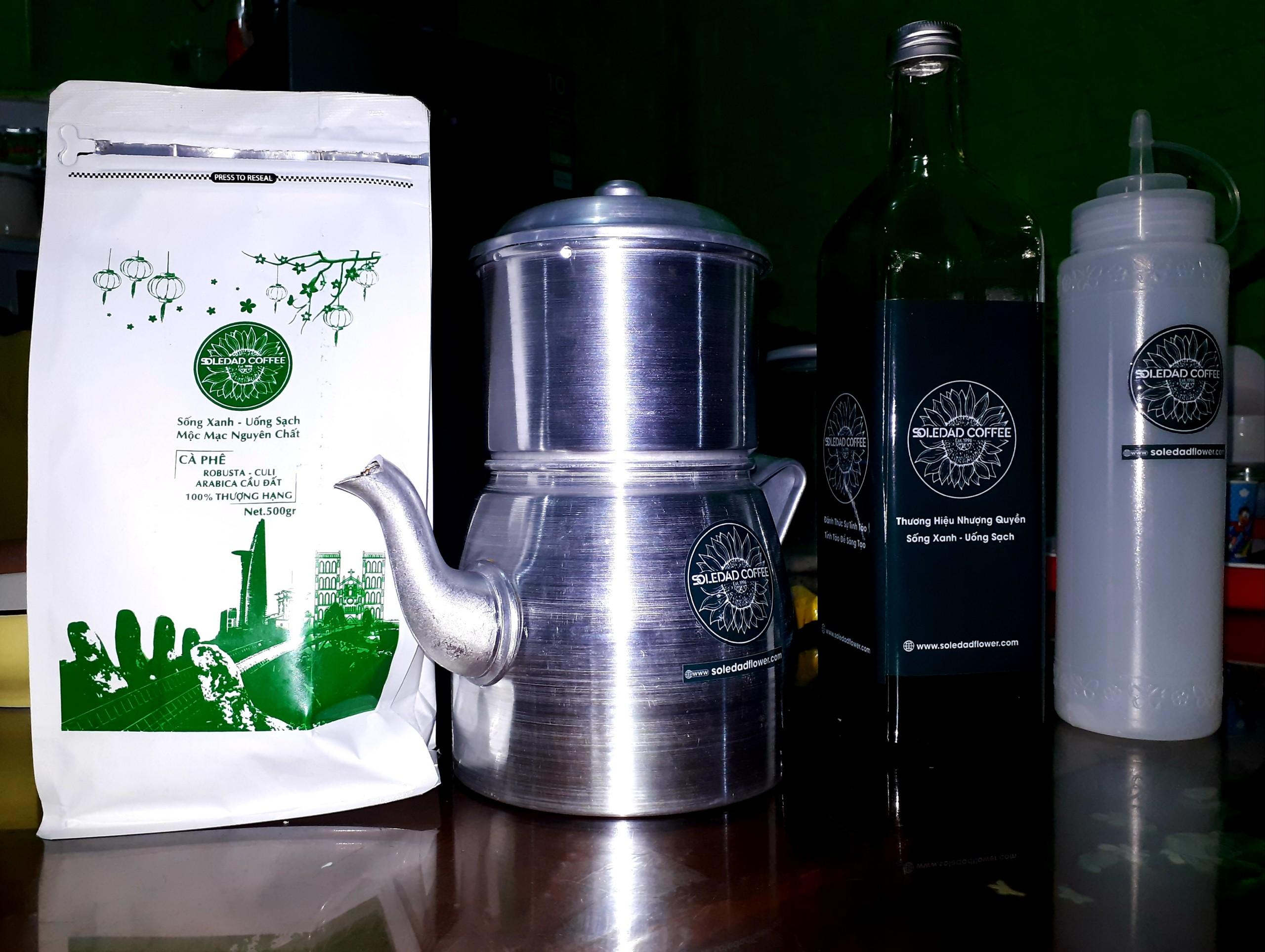 Cà phê rang xay mộc nguyên chất