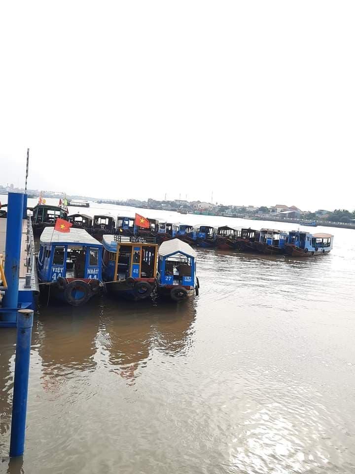 Đón khách tại Cảng du thuyền mỹ tho