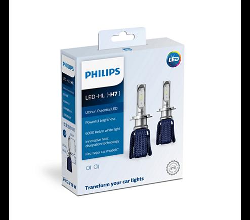 H7 11972 6000K- Bóng đèn pha Led xe ô tô/ xe hơi Philips Ultinon Essential LED H7 11972 6000K