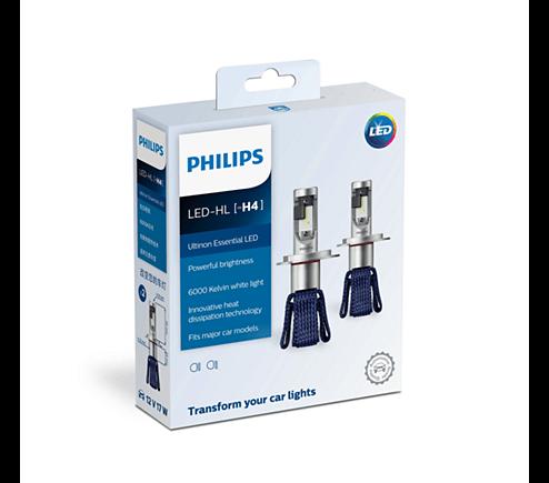 H4 11342 6000K- Bóng đèn pha Led xe hơi xe ô tô Philips Ultinon Essential LED H4 11342 6000K