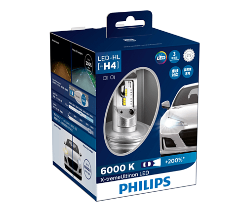 H4 LED 12953 6000K - Bóng đèn pha Led xe hơi xe ô/tô Philips X-treme Ultinon H4 LED 12953 6000K + 200%
