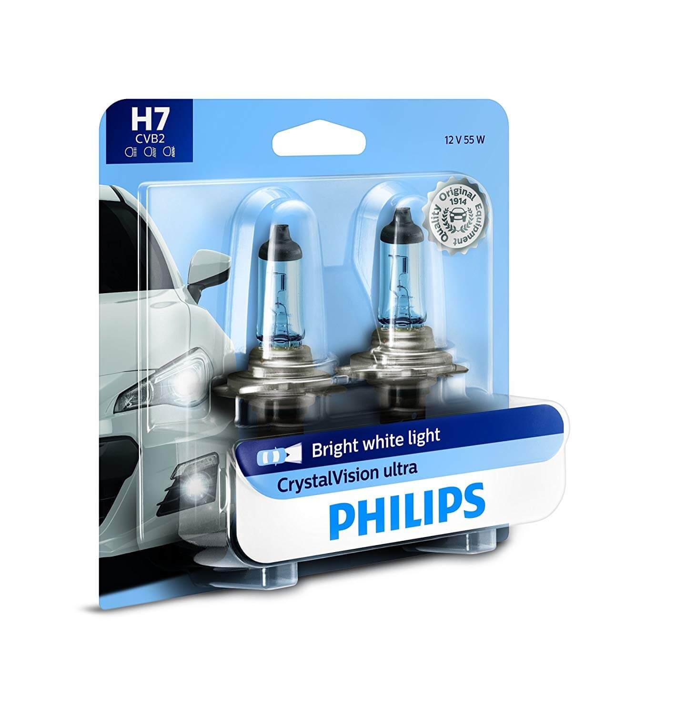 H7 12972 4300K- Bóng đèn xe hơi/ xe ô tô Halogen Philips CRYSTAL VISION H7 12972 CVB1 12V 55W ánh sáng 4300K