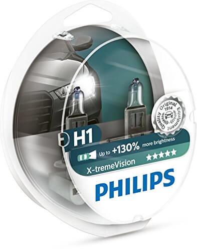 H1 12258 3700K - Bóng đèn gầm ôtô/ xe hơi Philips Halogen H1 12258 XV+ 12V 55W P14,5S S2 tăng sáng 130%, sáng vàng 3700K