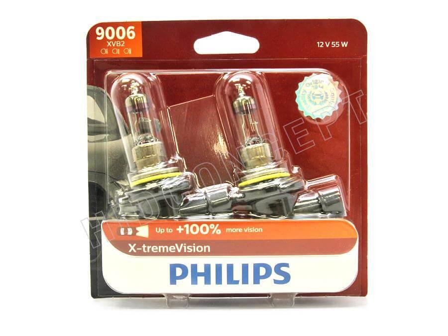 HB4 9006 3500K -  Bóng đèn pha ôtô/ xe hơi Philips Halogen HB4 9006 XV 12V 55W P22d S2 tăng sáng 100%, sáng vàng 3500K