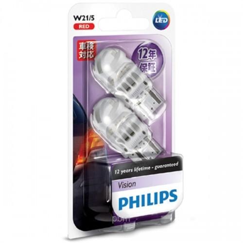 W21 LED 12838 B2- Bóng đèn tín hiệu Led xe ô tô/ xe hơi Philips W21 LED 12838 B2 12V - Đỏ