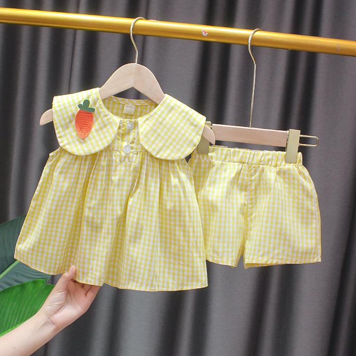 Đồ bộ cho bé gái vải cotton siêu mát siêu dễ thương (chỉ từ 59k)