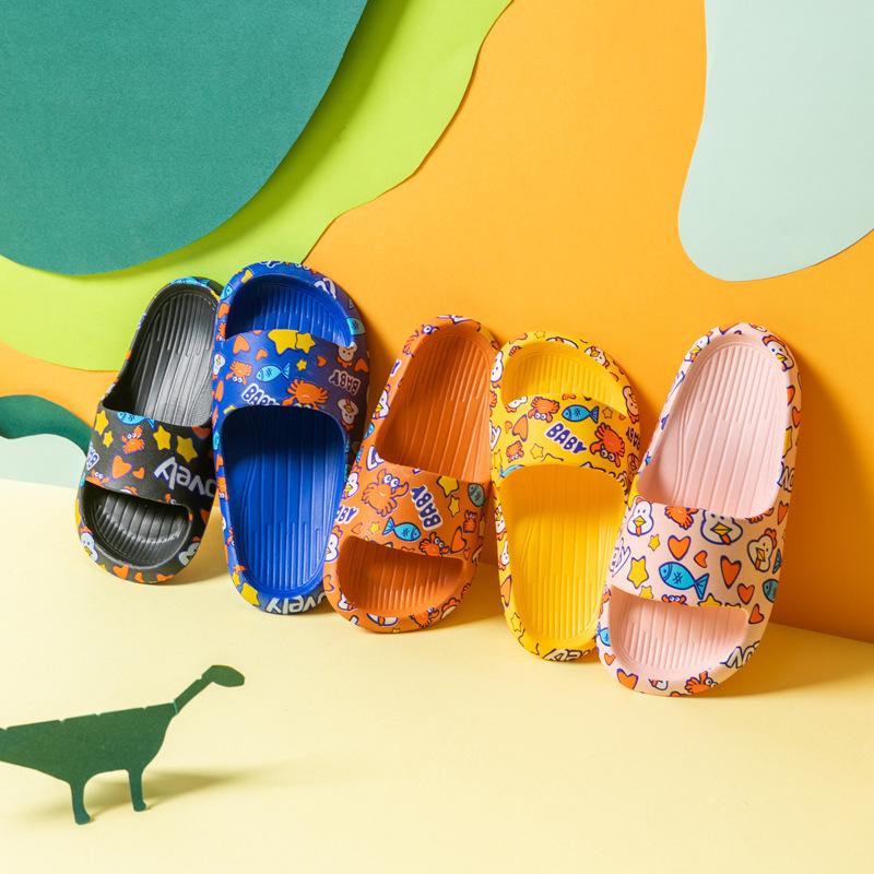 #Dép nhựa quai ngang cho bé trai và bé gái nhiều màu siêu đáng yêu