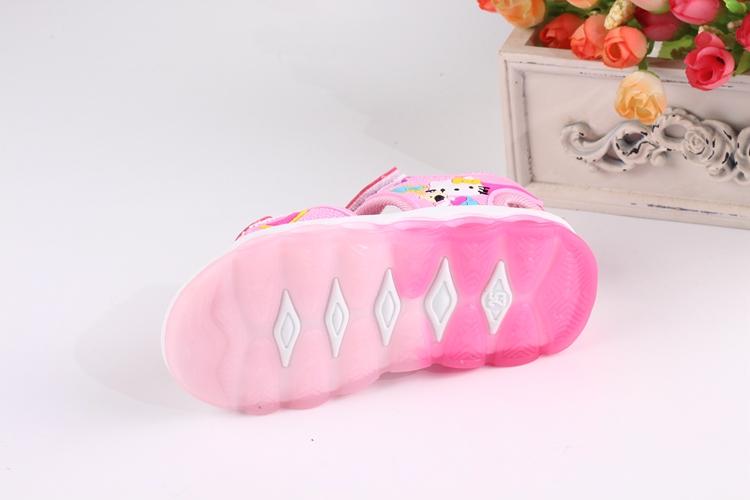 Dép sandal Hello Kitty cho bé gái 1-7 tuổi có đèn led sáng