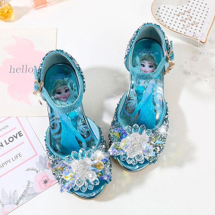 Giày elsa cao gót cho bé gái