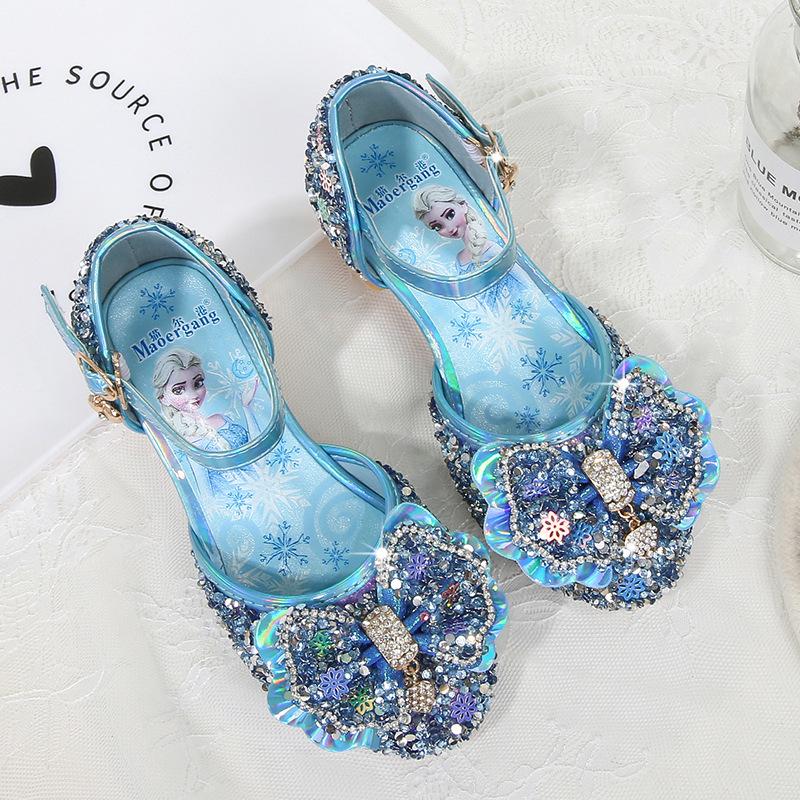 Giày elsa cao gót cho bé gái mẫu mới 2021