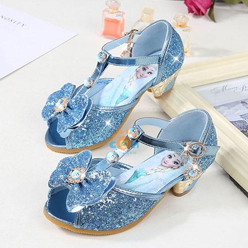 Giày Elsa cao gót đính đá siêu dễ thương - Mẫu mới nhất 2020