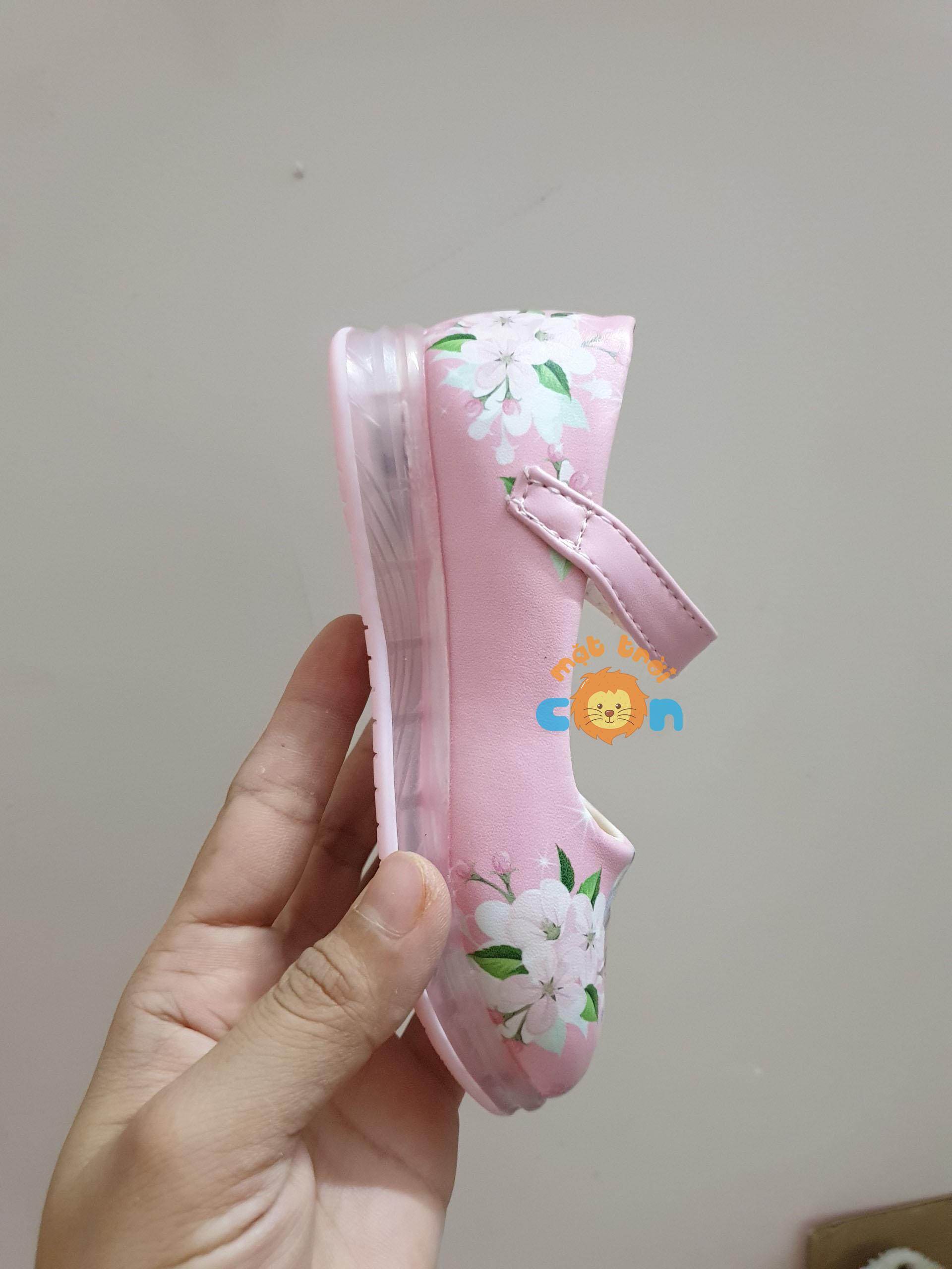 Giày búp bê công chúa Elsa có đèn led cho bé siêu hot 2020