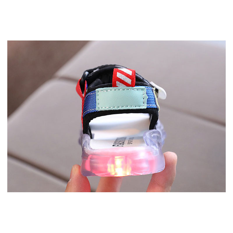 Giày sandal có đèn led phát sáng nhiều màu cho bé trai 1-6 tuổi