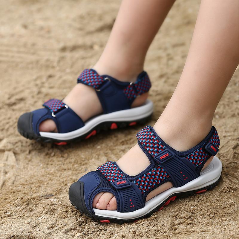 Giày sandal rọ bít mũi bé trai 5-15 tuổi với chất dù cao cấp cho bé đi học đi chơi