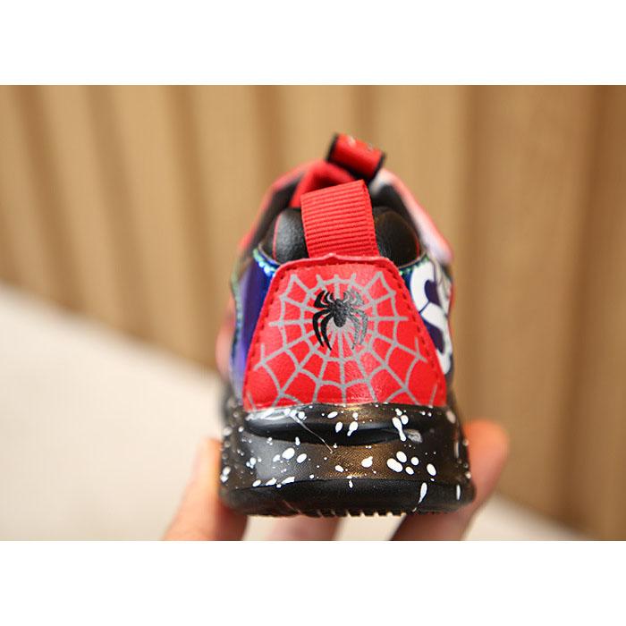 【HOT Giày Đèn Led 】Giày phát sáng siêu nhân Spiderman người nhện