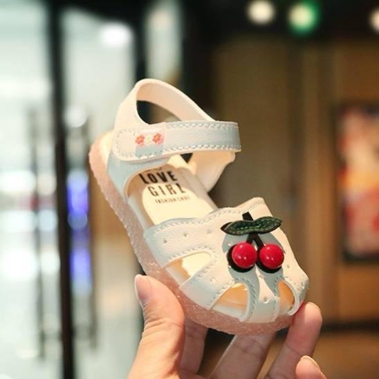 Giày tập đi bé gái hình Cherry dễ thương