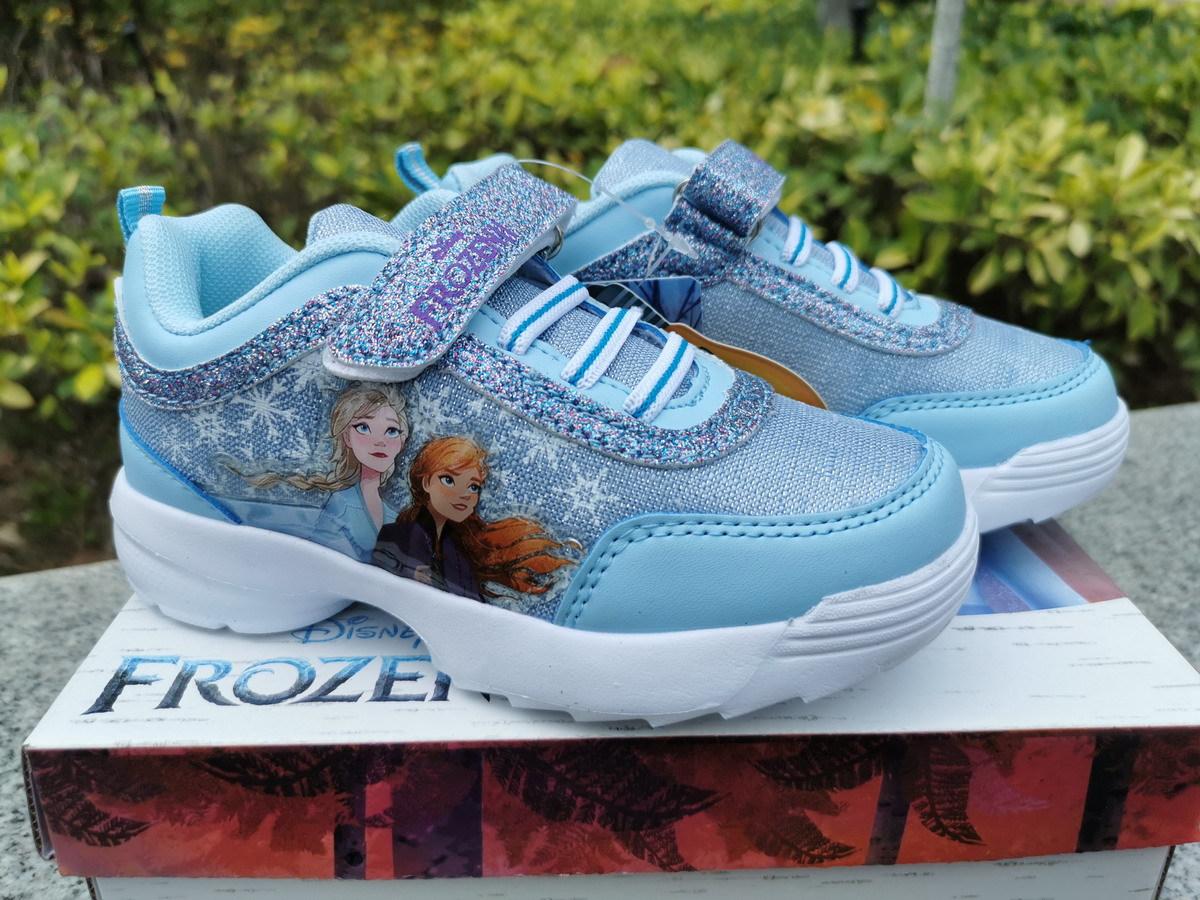 Giày thể thao công chúa elsa cho bé gái có đèn led phát sáng