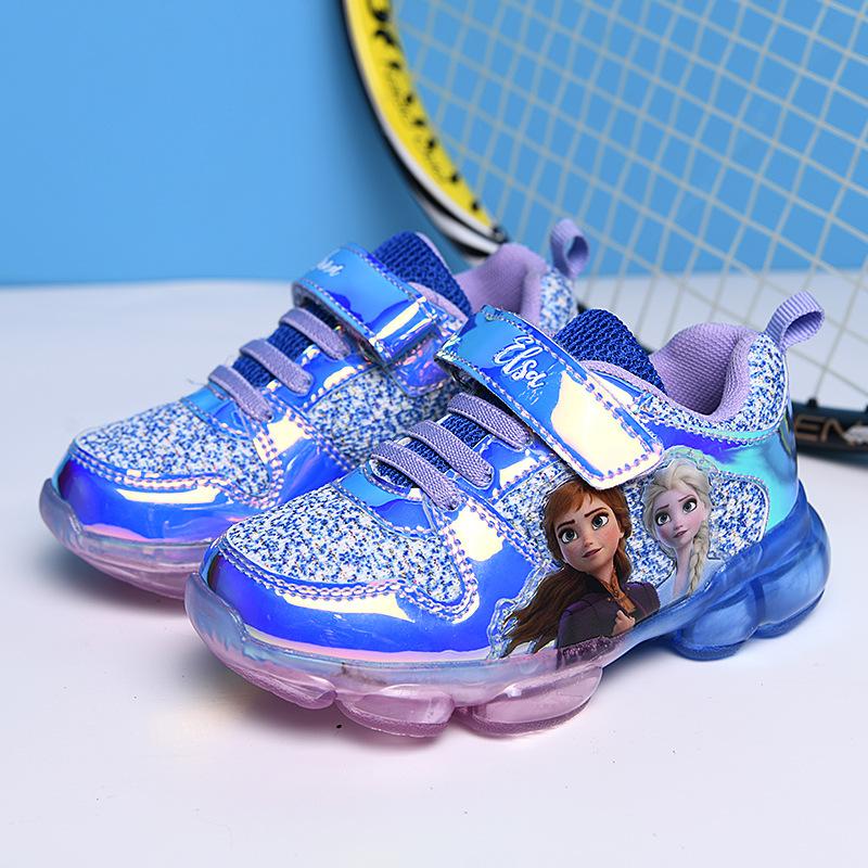Giày thể thao Elsa có đèn led cho bé gái