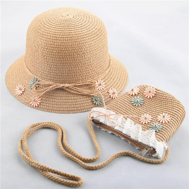 Combo nón cói  + túi bằng cói siêu xinh lung linh cho bé