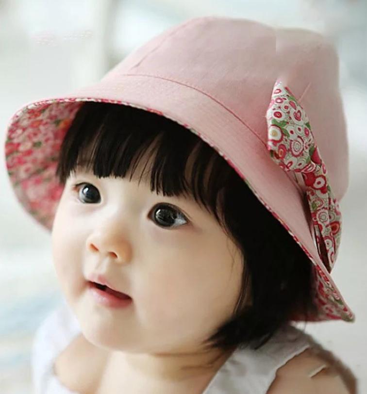 Nón vải gắn nơ siêu xinh bé gái 1-3 tuổi