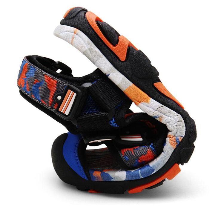 Giày sandal bít mũi cho bé trai 5-12 tuổi chất dù cao cấp, quai dán tiện dụng phù hợp đi học, đi chơi