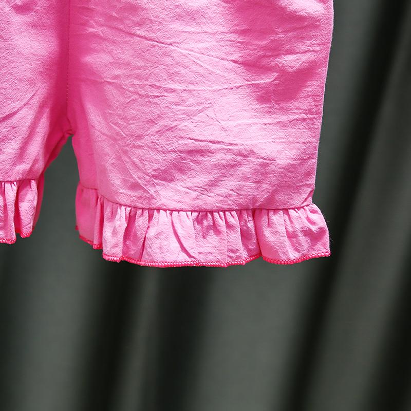 Đồ bộ mặc nhà cho bé gái màu hồng xinh xắn cho bé gái từ 9-20kg