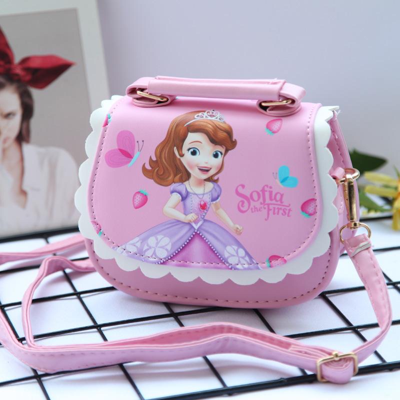 Túi xách công chúa elsa màu hồng siêu dễ thương cho bé gái