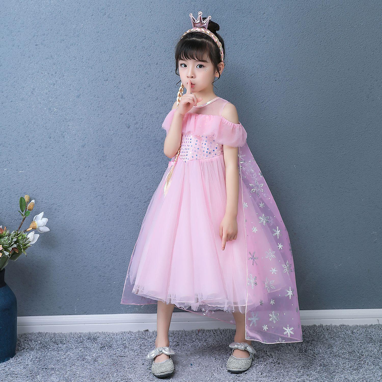 Đầm elsa màu hồng