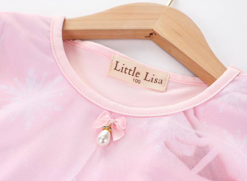 Váy đầm công chúa Elsa vải cotton thoáng mát cho bé đi học, đi chơi - EV30