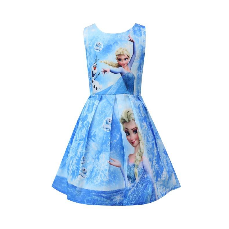 Váy đầm công chúa Elsa cho bé đi học, đi chơi