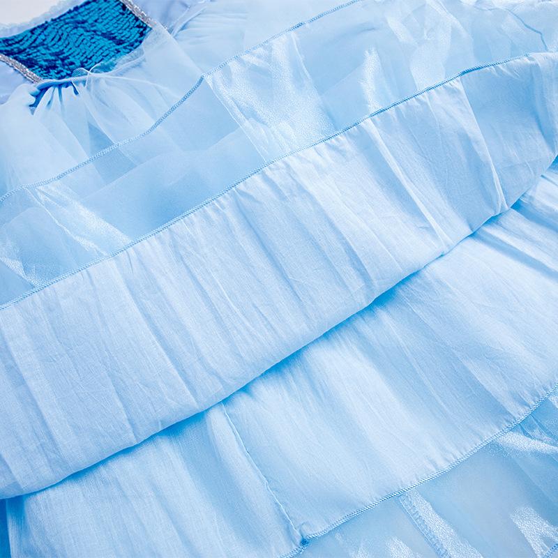 Đầm elsa tà dài màu xanh ngọc, mẫu mới cao cấp 2020 cho bé gái