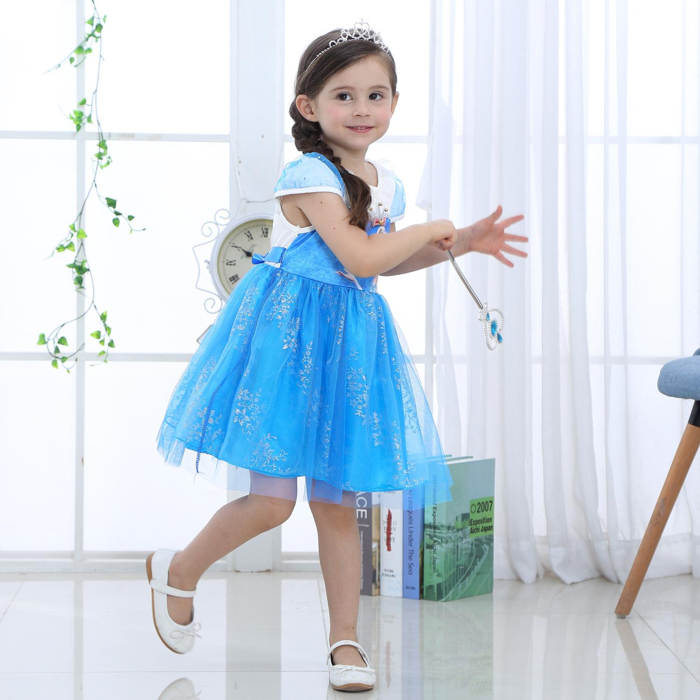 Váy đầm công chúa Elsa siêu dễ thương cho bé gái