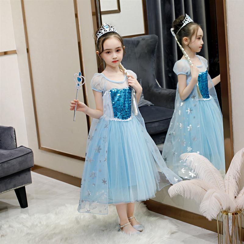 Váy công chúa Elsa Xanh ngọc Siêu hot 2020