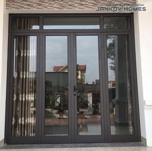 Cửa đi nhôm vát cạnh hệ Xingfa 55 chất lượng, giá rẻ - Jankov Homes